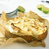 Lime meringue pie