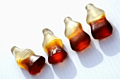 Four cola bottles