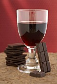 Red wine and chocolate (red wine bouquet)