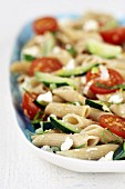 Wholemeal pasta with tomatoes and feta