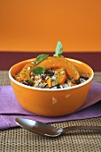 Rice and pumpkin stew