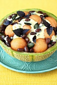 Bean and melon salad