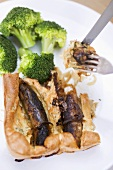 Toad-in-the-hole with broccoli