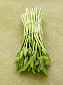 A bundle of wild asparagus