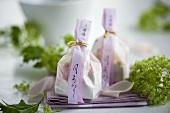 Kaichuu shiruko bags (hot, sweet winter soup from Japan)