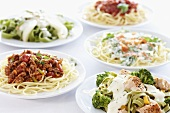 Various pasta dishes