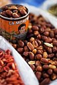 Spicy peanuts at a market (Mexico)