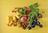 A variety of summer vegetables