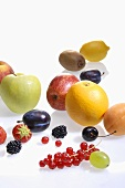 Various types of fruit and berries