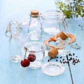 Various different empty preserving jars