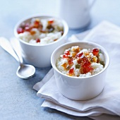 Rice pudding with candied fruit