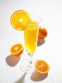 Prosecco with orange juice