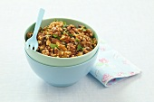 Buckwheat with walnuts and parsley