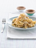 Tagliatelle with pepper and Parmesan