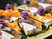 Cold soused herring cake