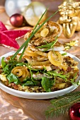 An onion and meat dish for Christmas dinner