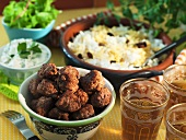 Indian meat balls with saffron rice