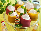 Marzipan tartlets with a meringue filling