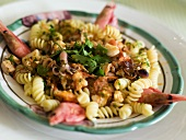 Pasta alla pescatora (pasta with seafood, Italy)