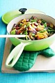 Potato stew with green beans