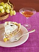 A piece of grape pie