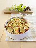 Courgette bake with mint
