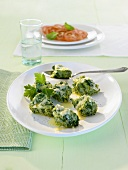 Malfatti (Spinach and cheese dumplings, Italy)