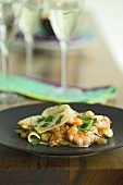 Lasagne with scallops, prawns and courgettes