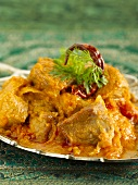 Mutton stew with spicy tomato sauce (India)