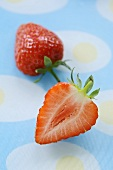 A halved strawberry