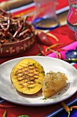 Mango and lime sorbet with grilled mango (Mexico)