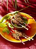 Kofta (Minced lamb kebabs, Morocco)