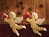 Two gingerbread angels
