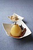 A spiced pear with caramel parfait