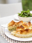 Filo pastry pie with courgette filling