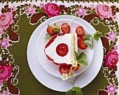 Strawberry yoghurt slice