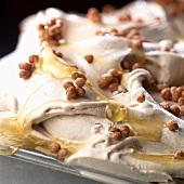 Honey and nut ice cream