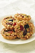 Small dried fruit and nut tartlets