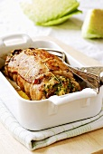 Stuffed roast rabbit