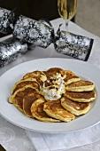 Ricotta pancakes with honey yoghurt and fresh berries