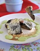 Grilled Portobello mushroom with Taleggio and mayonnaise