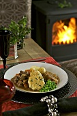 Beef and onion stew with peas and potatoes (Scotland)