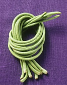 Eight asparagus beans, tied in a knot
