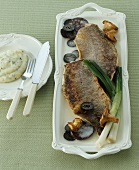 Fried barbel with rosemary mashed potatoes