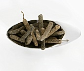 Long pepper from Asia in a small dish