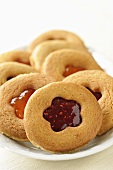 Spiced jam-filled sablés (Butter cookies, France)