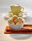 Amaretti with pearl sugar in a bowl
