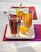 Children's Christmas punch with orange slices