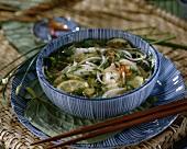 Noodle soup with fish, lime, chilli & coriander (Vietnam)
