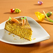 A piece of carrot cake for Easter